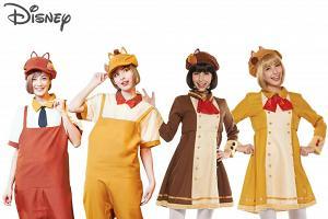 迪士尼人物服飾可愛登埸 灰姑娘/Chip'n'Dale/