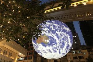 【灣仔好去處】全球首個7米巨型自轉地球登陸灣仔