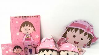7-Eleven櫻桃小丸子精品!櫻花和服造型卡套/環保袋/散紙包