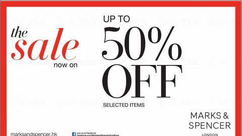Marks & Spencer全線分店 特定貨品半價優惠