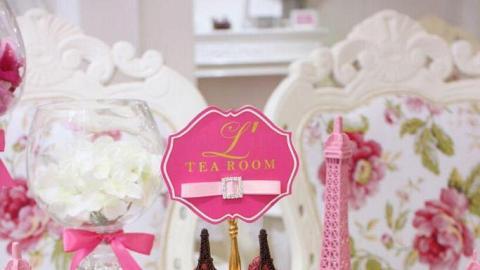 樓上 L' TEA Room 限定巴黎鐵塔Tea Set