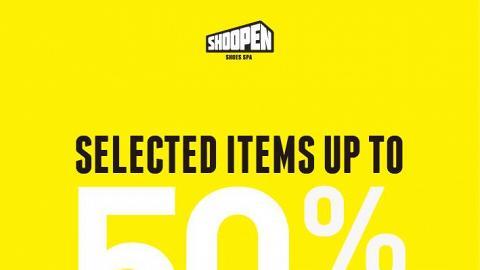SHOOPEN指定精選鞋款及袋款 低至半價
