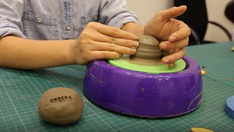 最多可製2件作品!$248工廈陶瓷拉坯體驗班