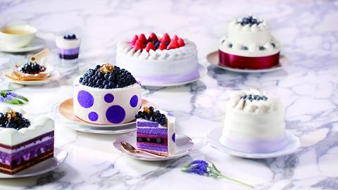 藍莓滿到漏!美心藍莓山蛋糕