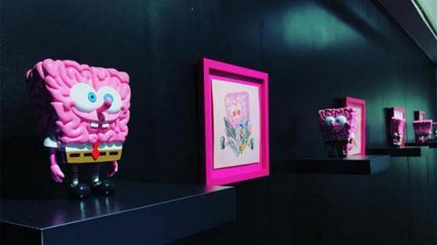 粉紅海綿寶寶藝術展覽!免費入場
