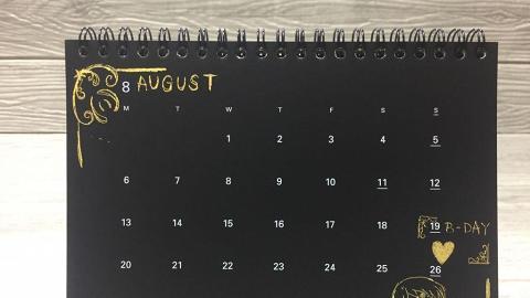 新推全黑刮刮樂2018座枱曆+掛曆  刮住嚟mark低特別日子