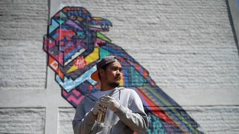泰國塗鴉王Rukkit展覽登陸銅鑼灣 逾20幅動物塗鴉/Hip Hop舞獅!