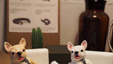 台灣設計搞鬼動物下班後手機座/卡片座!肥貓狗完美演繹收工頹樣
