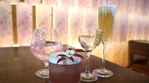 中環櫻花主題餐廳 限定粉紅雞尾酒+櫻花甜品