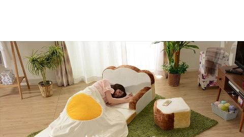 攬住麵包太陽蛋瞓覺!日本搞鬼食物造型家具登場