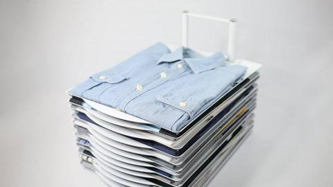 衣服收納器 整理超方便!固定衫褲點拎都唔亂