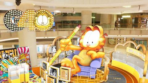 【西九龍好去處】巨型加菲貓7月登場!40周年限定原畫手稿展+影相位