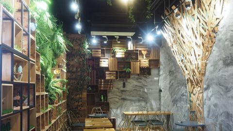 【油麻地美食】酒店新開小清新Cafe 森林系風格必影人氣盆栽牆!