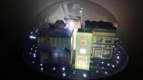 【中秋月餅2018】Lady M水晶球奶黃月餅禮盒 LED燈營造浪漫星空效果