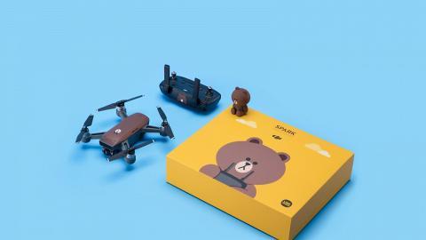 Line Friends熊大航拍機登場!Spark首款卡通操控套裝限量發售