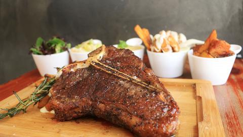 【大角咀美食】35安士澳洲牛扒放題 任添芝士薯條/焦糖南瓜/凱撒沙律