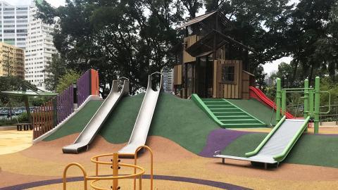 【屯門好去處】屯門公園共融遊樂場12月開幕!7米高攀爬塔+搖籃鞦韆