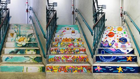 【上環好去處】PMQ元創方20道樓梯畫影相位 繪畫出地道美食/本土文化故事