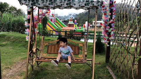 【元朗好去處】元朗士多啤梨農莊+兒童樂園!BBQ/餵羊/小木屋滑梯/彈床