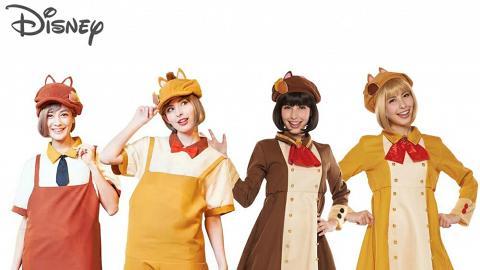 迪士尼人物服飾可愛登埸 灰姑娘/Chip'n'Dale/愛麗絲