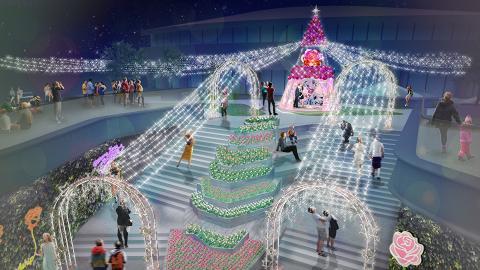 【聖誕節2018】葵芳新都會廣場4萬呎玫瑰花燈海!水晶聖誕樹/過萬朵玫瑰花