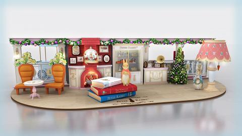 【聖誕節2018】將軍澳比得兔雪國聖誕村 參觀英倫風大宅/免費寄聖誕卡
