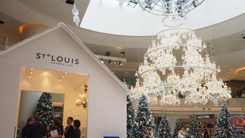 【九龍站好去處】ELEMENTS圓方法式冬日聖誕森林 6米高水晶聖誕樹/白色小屋