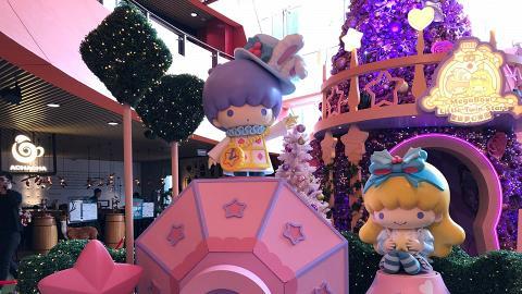【聖誕節2018】Little Twin Stars聖誕登陸Mega Box!30呎粉紫聖誕樹/玫瑰花海
