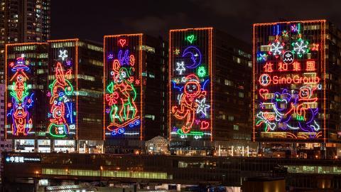【聖誕節2018】尖沙咀中港城塗鴉風聖誕燈飾 6大影相位率先睇