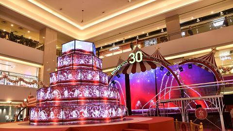 【聖誕節2018】屯門市廣場聖誕亮燈!LED光影匯演/5層高夢幻噴泉/6米高聖誕樹