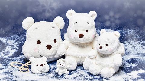 日本迪士尼新推出雪白色小熊維尼系列!冬日限定公仔/袋/紙巾套/吊飾