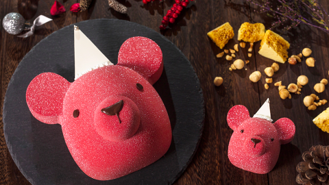 【聖誕大餐2018】agnès b. CAFÉ推聖誕節限定菜式 粉紅小熊甜品/春雞配野菌