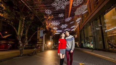 【銅鑼灣好去處】銅鑼灣利園變身夢幻星光長廊 幻彩燈光表演/幾米聖誕裝置