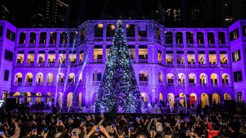 【聖誕節2018】中環大館12米高Cartier聖誕樹 夢幻光影燈飾/舞蹈表演!