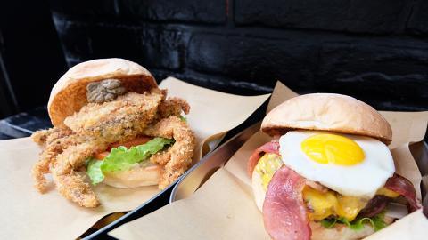 【西環美食】西環新開自家手打漢堡店 即炸原隻軟殼/特濃芝士漢堡/香草芝士條