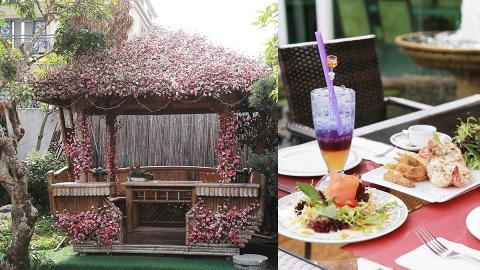 【大埔美食】大埔過萬呎庭園餐廳 休閒木屋/花亭/池塘靚景歎西餐