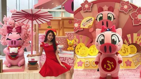 【新年好去處2019】尖沙咀The One飛天少女豬事丁 櫻花拱橋/3.5米高粉紅豬