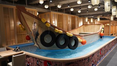 【觀塘美食】全港首間釣魚日式居酒屋 $20自助釣魚/A4和牛海膽卷/刺身壽司