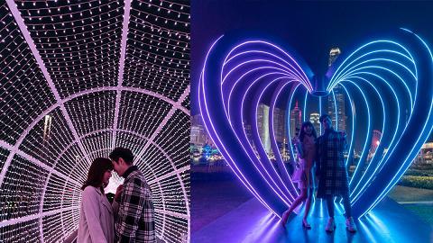 【情人節好去處2019】中環海濱浪漫燈影展!粉紅隧道/巨型心心/15大影相位
