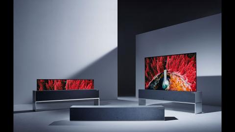 全球首部捲軸式4K電視登場  戲院級聲效/65吋大屏幕