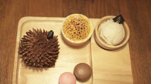 【佐敦美食】佐敦三層貓山王榴槤甜品店 首創開心果榴槤雪糕/燉蛋/布甸燒