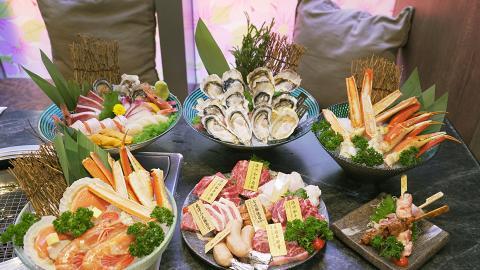 【佐敦美食】佐敦日式燒肉店全新放題Menu 任食和牛/刺身/即開生蠔/松葉蟹腳