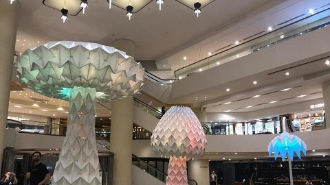 【金鐘好去處】巨型彩色蘑菇燈登陸金鐘!免費睇世界級摺紙花燈