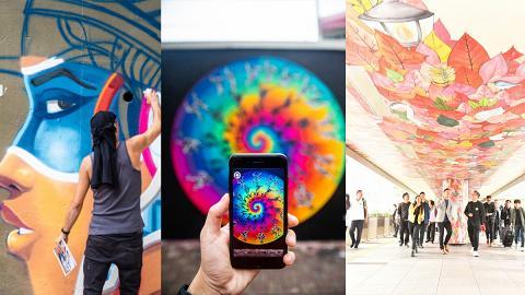 【灣仔好去處】灣仔7大最新街頭壁畫登場!彩色花牆/地面立體畫/塗鴉字體