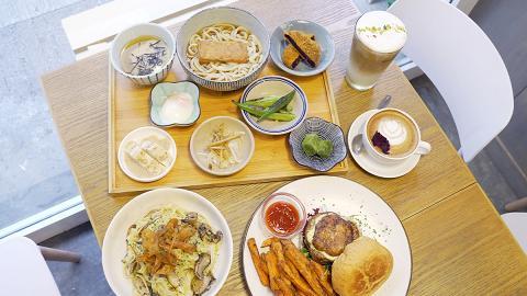 【深水埗美食】深水埗新開木系簡約素食Cafe 歎日式定食/大啡菇漢堡/野果多士