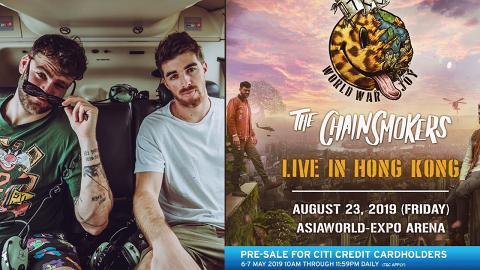美國人氣EDM組合The Chainsmokers 開亞洲巡迴8月再度來港