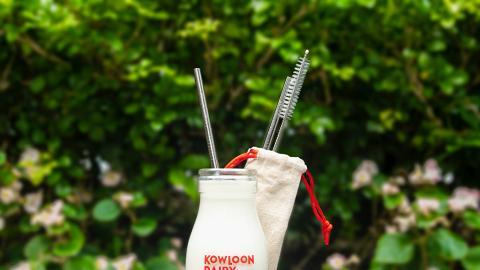 維記牛奶於便利店新推環保優惠 買樽裝鮮奶加$1換不鏽鋼環保飲管套裝
