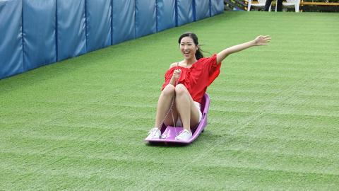 【暑假好去處】觀塘3000呎室內大自然遊樂場!5米高滑草場/360度薰衣草花海