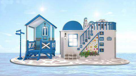 【暑假好去處】希臘愛琴海最美小島登陸葵芳!25呎長藍白小屋/小希臘階梯