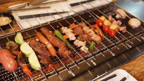 【太子美食】太子新開懶人自轉燒烤放題 2小時任食超過30款串燒+火鍋